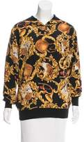Salvatore Ferragamo Printed Long Sleeve Top