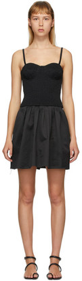 Marina Moscone Black Smocked Bustier Tunic Dress