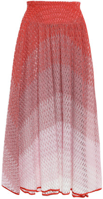 Missoni Mare Mare Degrade Crochet-knit Midi Skirt