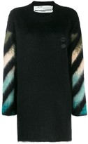 Off-White Off White intarsia crew neck sweater