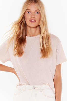 Nasty Gal Womens Tee You Later Relaxed Tee - Nude