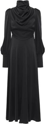 Zimmermann Draped Washed Silk-blend Midi Dress