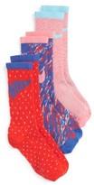 Nike Girl's 3-Pack Graphic Crew Socks