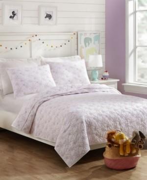 Jessica Simpson Flower Heart Twin 2-Piece Quilt Set Bedding