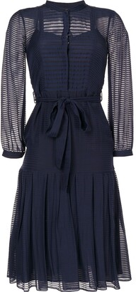 Burberry Pre-Owned Striped Belted Dress