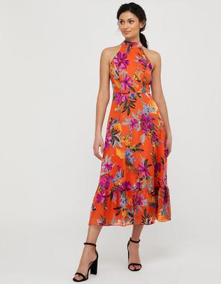 Under Armour Trixie Burnout Floral Tiered Dress Orange