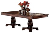ACME Furniture Chateau De Ville Dining Table with Double Pedestal Wood/Cherry - Acme