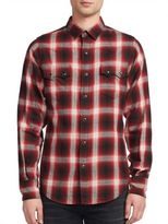 Saint Laurent Nashville Plaid Long Sleeve Shirt