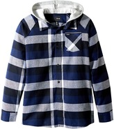 Hurley Long Sleeve Hooded Flannel Top Boy's Clothing