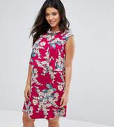 Asos Nursing Floral Print Frill Double Layer Dress