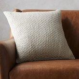 "CB2 18"" Diamond Weave Natural Pillow"