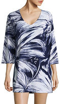 J Valdi Plus Plus Animal Printed Sharkbite Hem Cover-Up