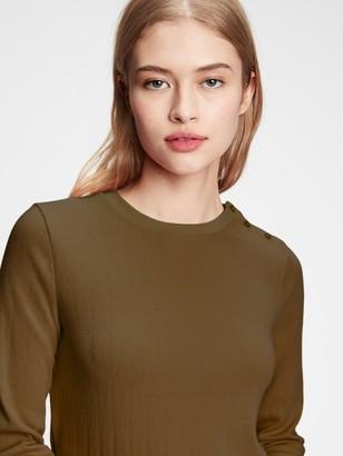 Gap Pointelle Crewneck T-Shirt