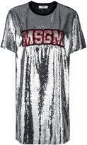 MSGM sequins embellished dress - women - Polyester/Polyacrylic - 38