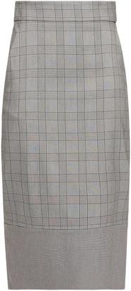Veronica Beard Twain Prince Of Wales Checked Cotton-blend Midi Pencil Skirt