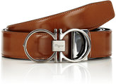 Salvatore Ferragamo Men's Reversible Leather Belt-BROWN, BLACK, TAN