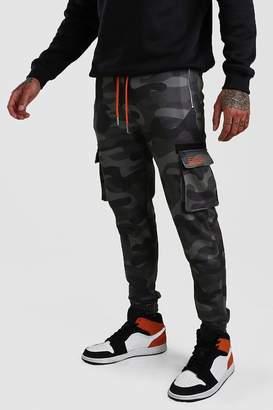 boohoo Man Print Skinny Fit Camo Cargo Jogger
