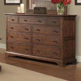 Cresent Furniture Retreat Cherry 9 Drawer Dresser