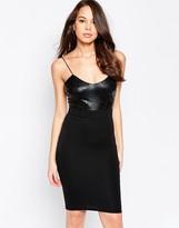 AX Paris Midi Cami Dress with Shine Top