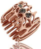 Radix Rose Gold Plated & Diamond Ring