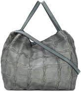 Numero 10 weave effect shopper bag