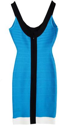 Herve Leger Atlantis Blue Tasha Bandage Dress XXS