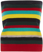 Marni Strapless Striped Knit Top