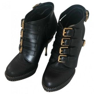 Christian Dior Black Leather Ankle boots