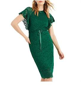 Phase Eight Ninette Lace Frill Sleeve Dress