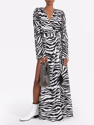 ATTICO Zebra Print Maxi Dress