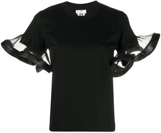 Comme des Garcons ruffle-trimmed T-shirt