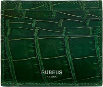 Rubeus Leather Croc-Embossed Card Holder