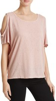 Velvet by Graham & Spencer Cold Shoulder Tee