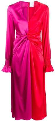 Black Coral Jacqueline colour-block dress