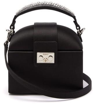 Rodo Trunk Crystal-embellished Satin Cross-body Bag - Black