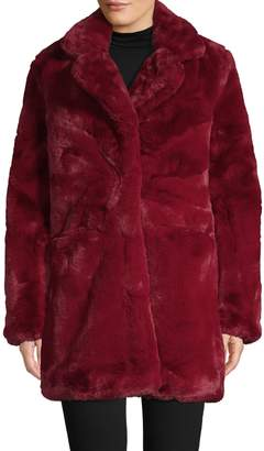 Apparis Faux Fur Raglan-Sleeve Coat
