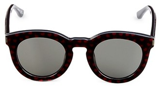 Saint Laurent 47MM Heart-Print Pantos Sunglasses