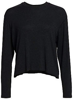 ATM Anthony Thomas Melillo Women's Micromodal Boy Long-Sleeve Crewneck
