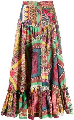 Etro Patchwork Midi Skirt