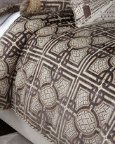 Dian Austin Couture Home Queen Argent Geometric Duvet Cover