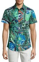 Versace Abstract Printed Woven Shirt