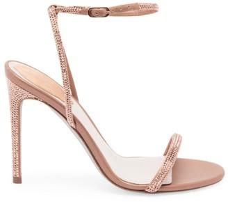 Rene Caovilla Ellabrita Crystal-Embellished Satin Sandals
