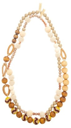 Max Mara Rada Necklace - Womens - Brown Multi