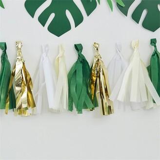 Ginger Ray Botanical Shower Green/Gold Tassel Garland