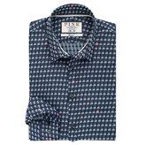 Thomas Pink Blake Texture Slim Fit Button Cuff Shirt