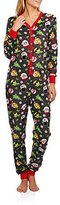 Secret Treasures Womens Christmas Emoji Micro Fleece Union Suit Pajamas ( 8/10)
