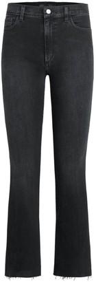Joe's Jeans The Callie High-Rise Fray-Hem Crop Bootcut Jeans