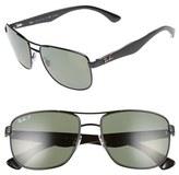 Ray-Ban Men's 57Mm Polarized Navigator Sunglasses - Black