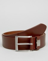 Hugo By Hugo Boss Leather Connio Belt In Tan