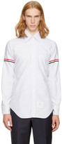 Thom Browne Grey Classic Point Collar Grosgrain Armband Shirt